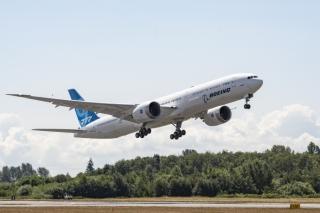 视频:波音777X三号机今日完成首飞