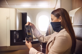全新防护 阿提哈德航空为头等舱以及商务舱旅客推出围脖式面罩