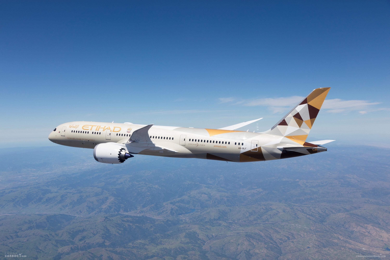 阿提哈德航空上半年客运量同比减少58% 货运增幅达37%