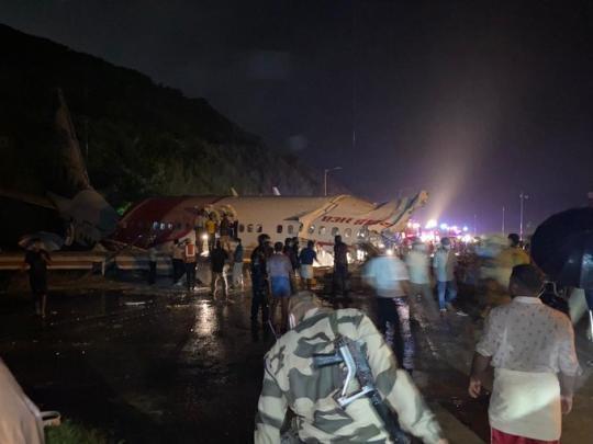 印度客機沖出跑道已致17人死亡 暫無中國公民傷亡