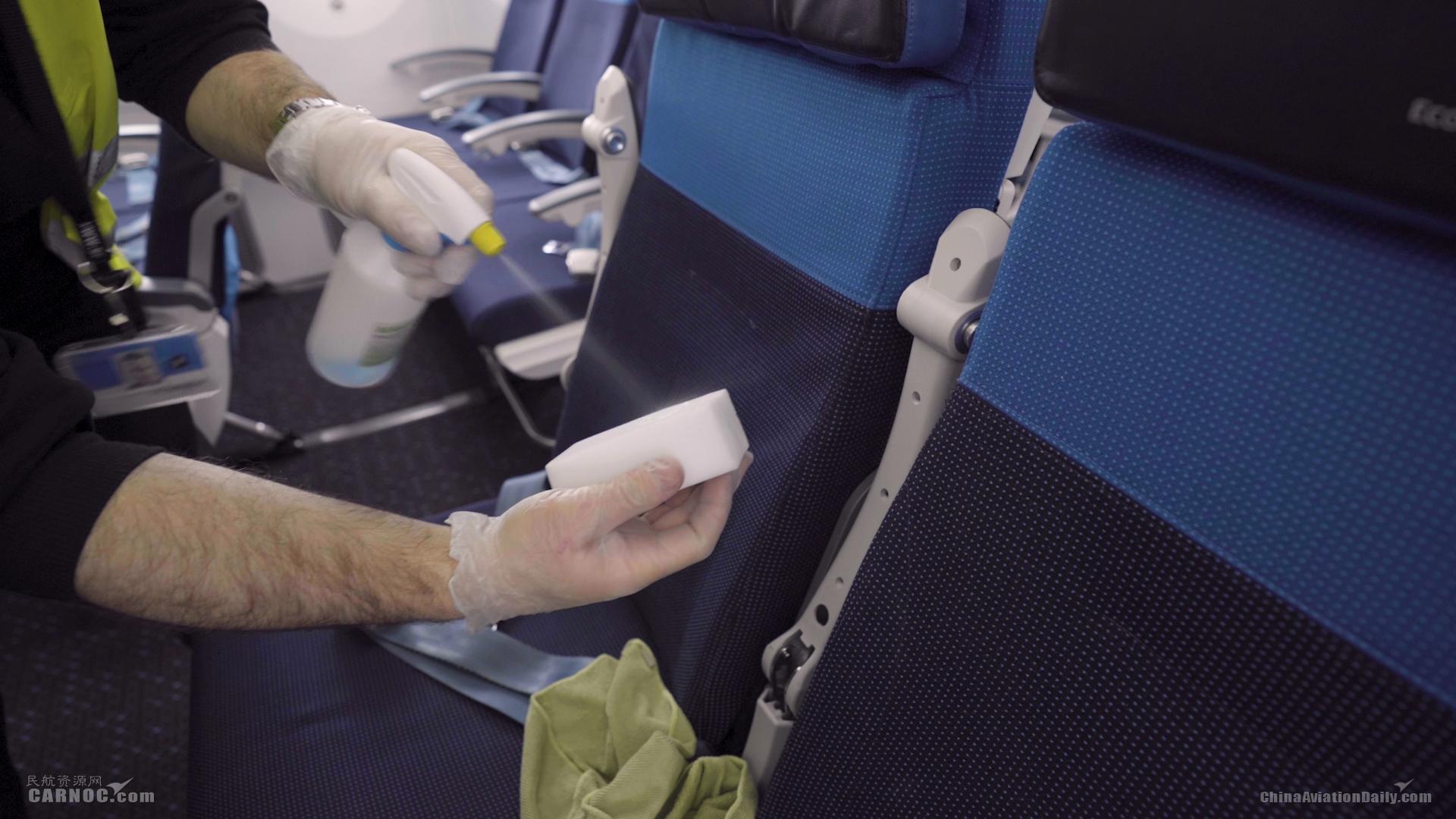 荷航机上清洁措施