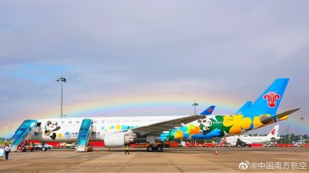 GO!南航史上最萌彩绘机起飞!