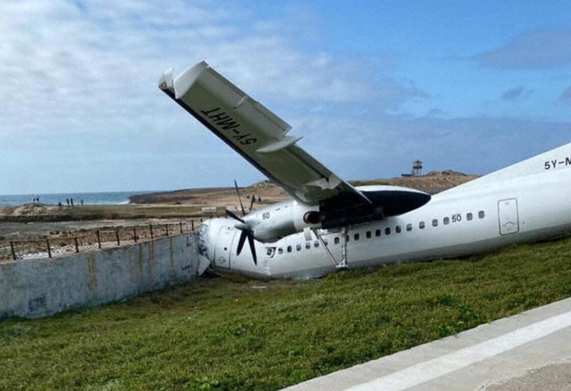 索马里首都一架货机冲出跑道撞墙 机上3人受伤
