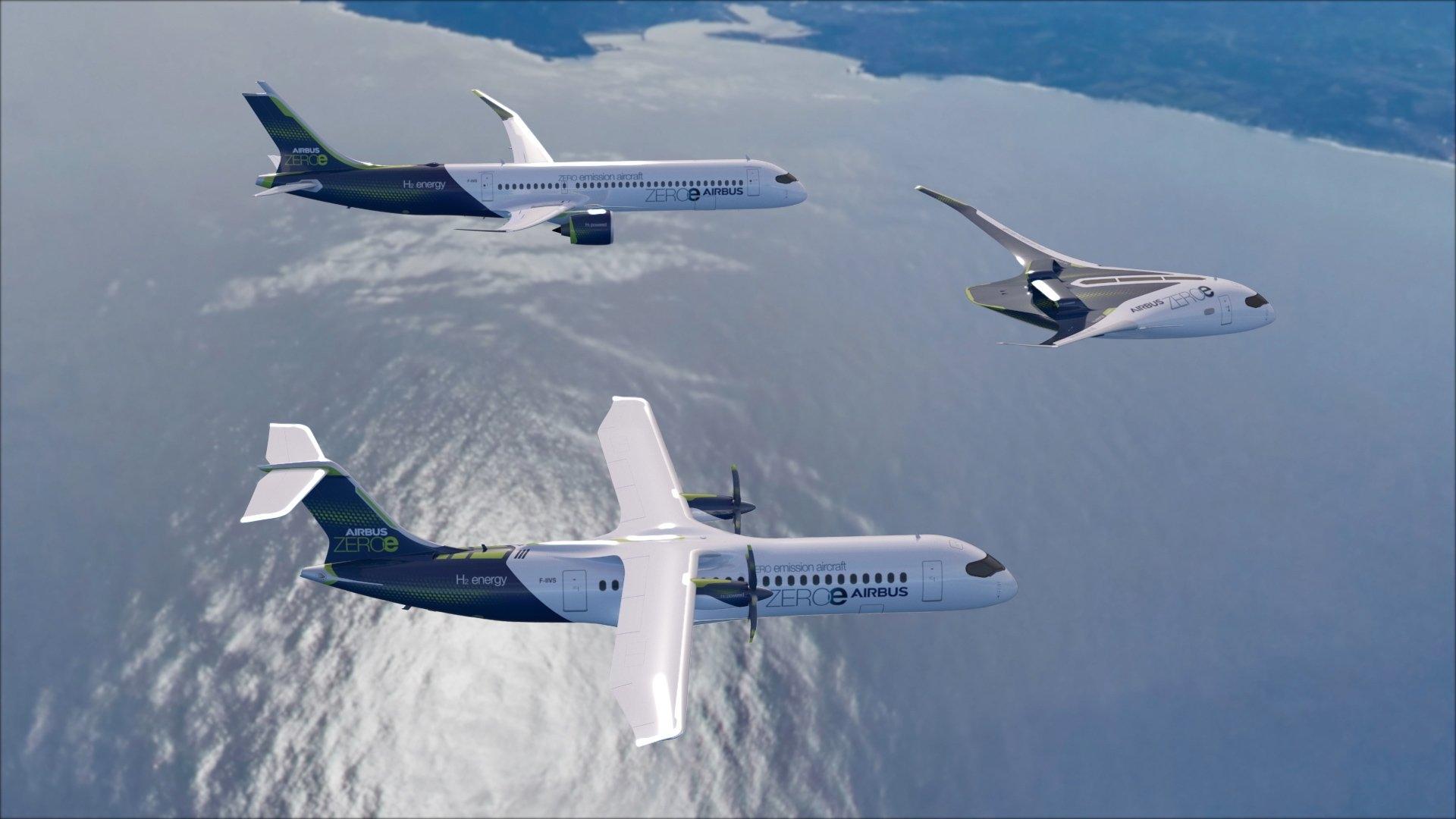全球首个零排放飞机 空客氢能源概念飞机有望2035年面世