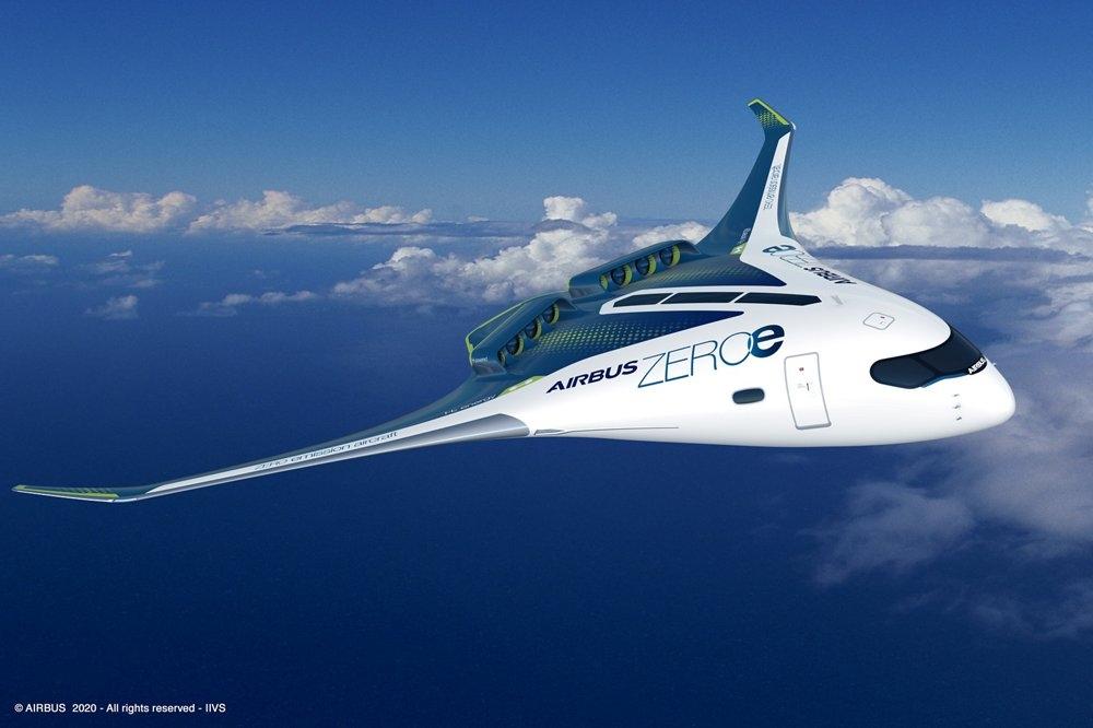 空客氢能源概念飞机  来源/空客