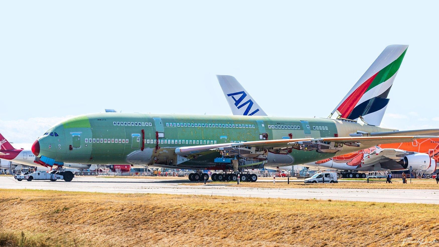 多图:最后一架空客A380已在图卢兹基本完成总装