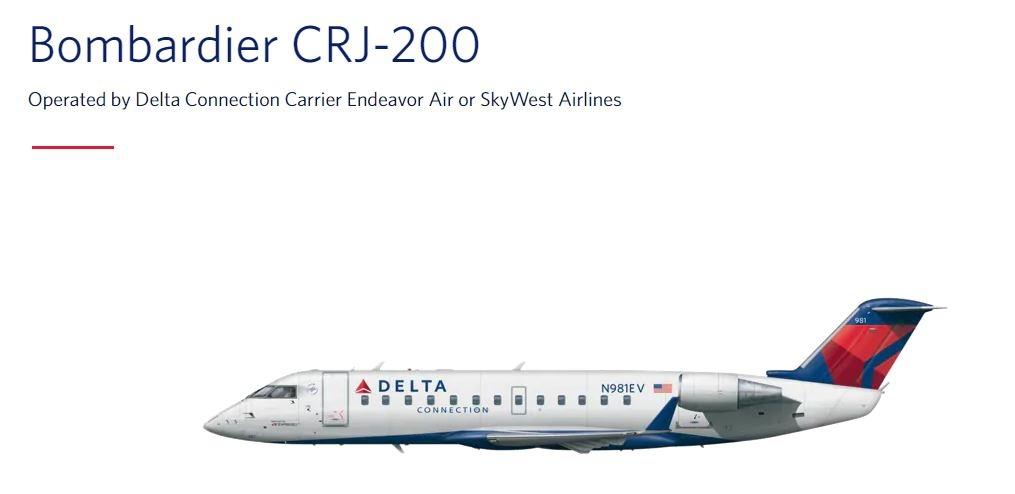图:达美波音CRJ-200