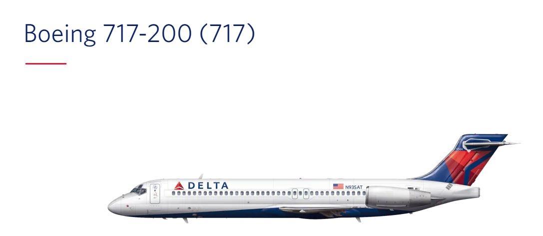 图:达美波音717-200