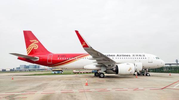 深航迎第15架A320NEO飞机 助力旅客国庆出行