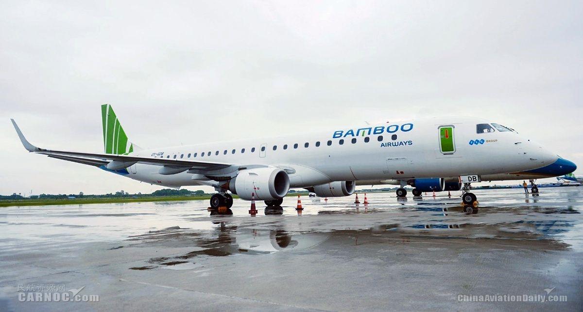 巴航工业E195喷气飞机首次在越南投入运营