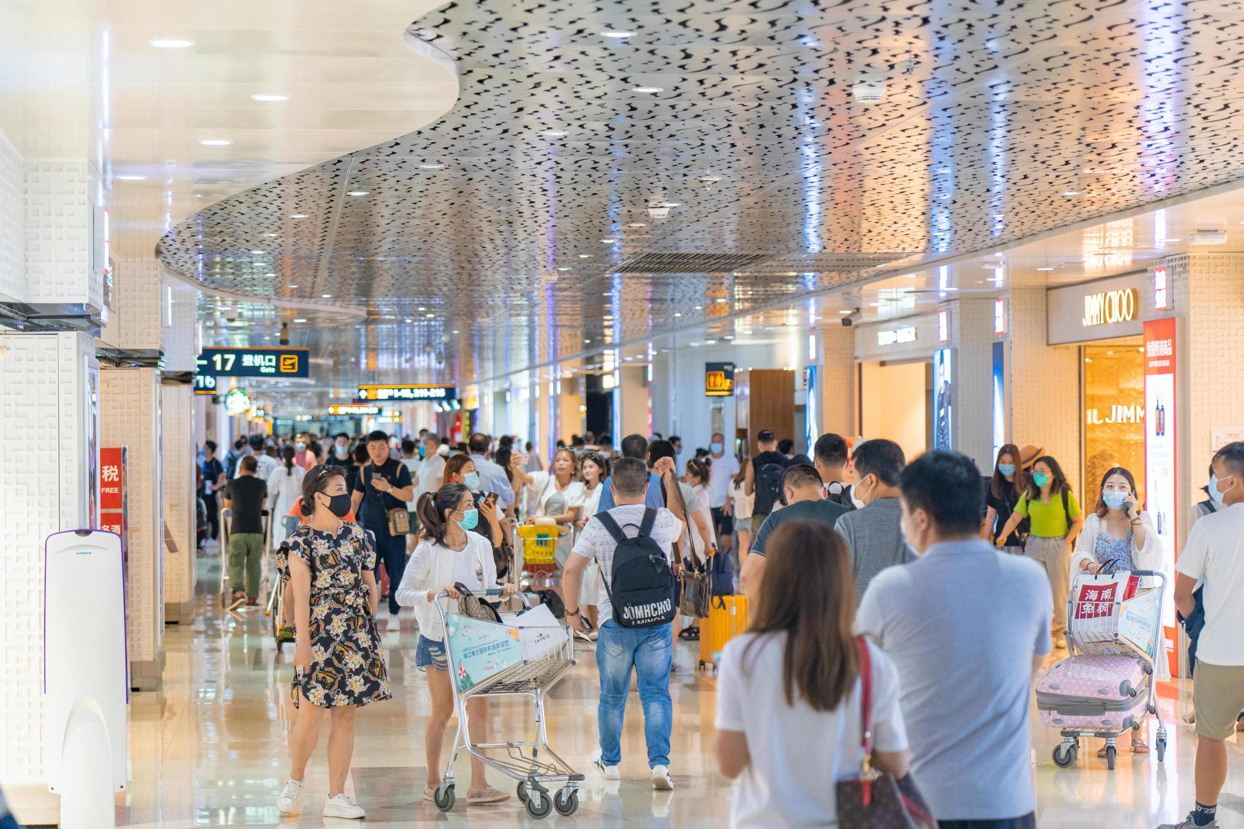 双节黄金周,海南三大机场客流创新高 助力免税销售额增长