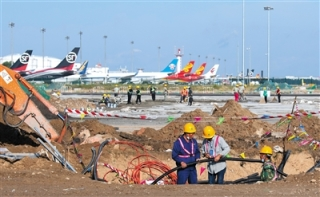 首都机场西跑道大修本月完工