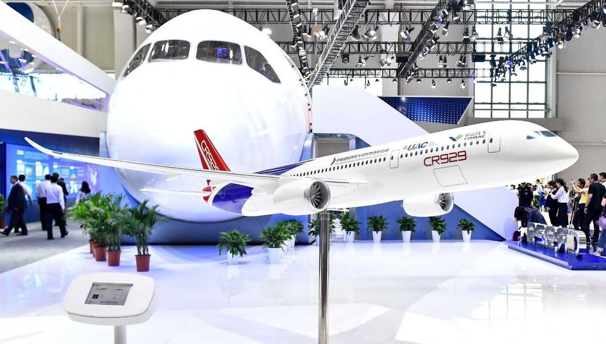 CR929模型和1:1样机。来源:China