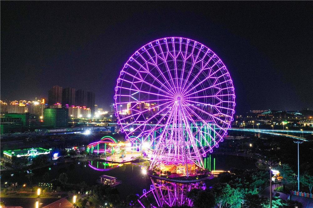 汕头市夜景(9月6日摄,无人机照片)。新华社记者