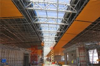 长水机场S1卫星厅项目主体结构基本完工