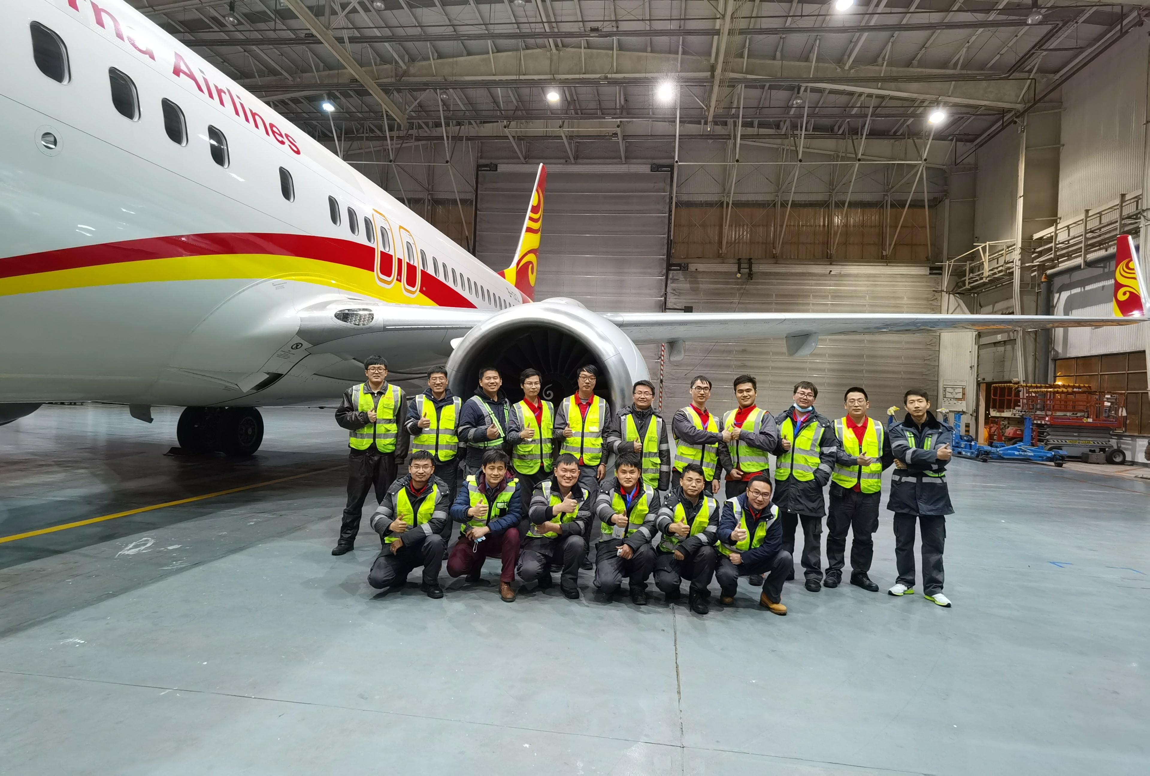 """48小时极速抢修!金鹏维修团队圆满完成737客机""""换发""""任务"""