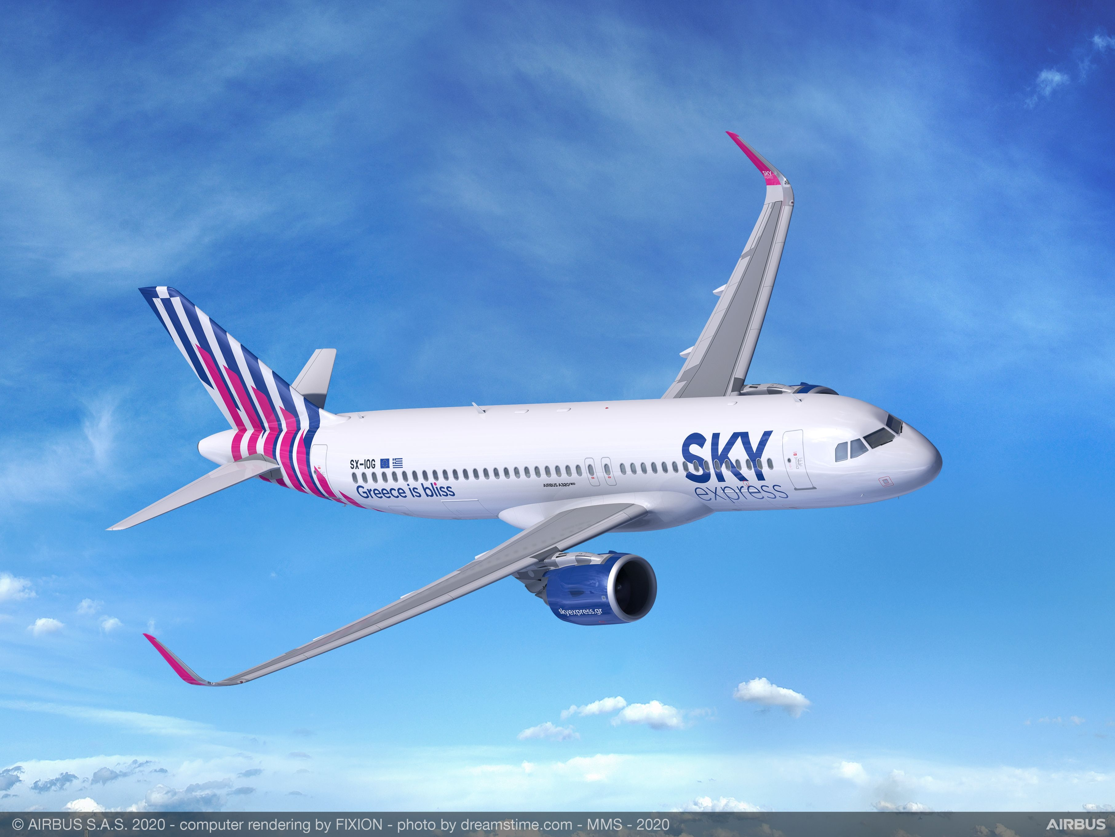 希腊SKY express航空公司订购4架空客A320neo飞机