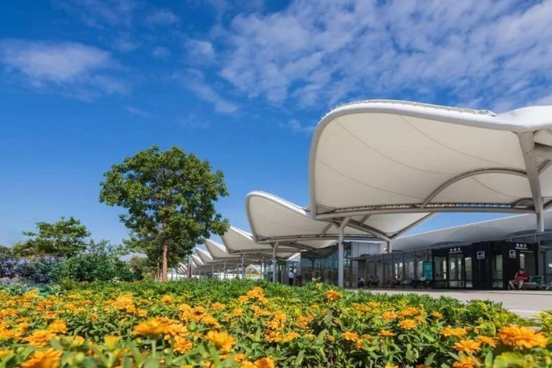 """白云机场一号航站楼在建四条""""地下人行隧道"""""""