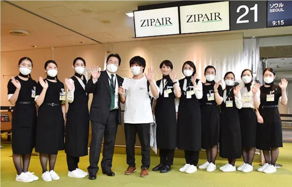 日本新成立航司载客首航 仅有2名乘客