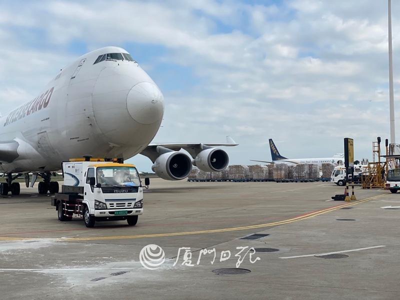 厦门—洛杉矶定期货运航线开通 计划执行约300个架次