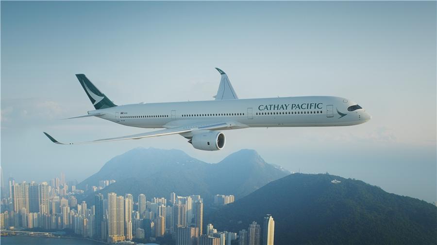 国泰航空A350客机资料图