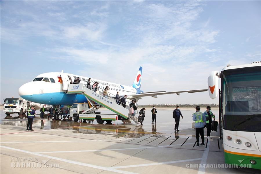 盐城机场今日起执行冬春时刻 新增引入2架驻场飞机  优化加密10余条航线