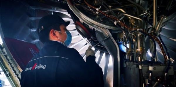 Ameco华北航线中心首次独立完成波音787飞机发动机关键部位轮轴花键检查