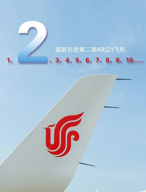 中国商飞向国航交付第2架ARJ21飞机