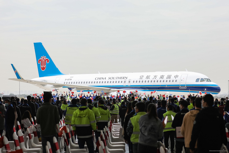 空中客车中国总装第500架A320系列飞机交付             空客供图