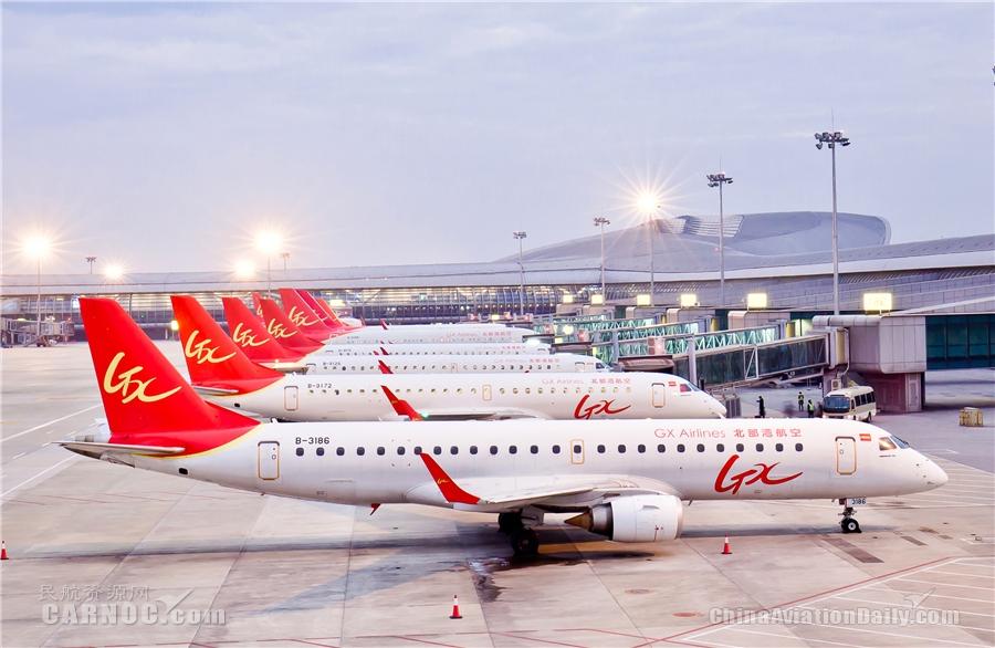 北部湾航空2021年夏秋航季新增南宁=惠州等7条航线