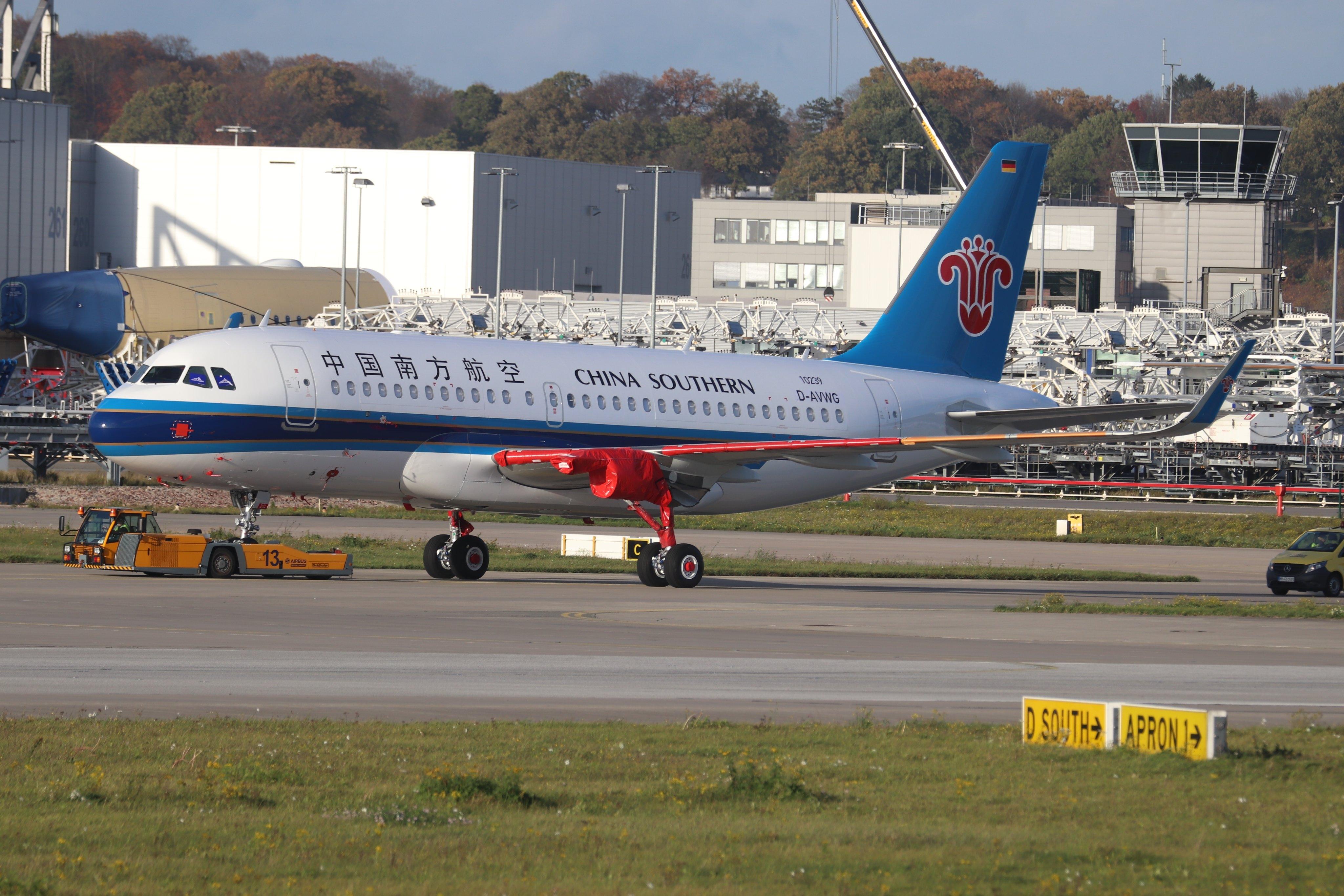 南航首架A319neo亮相