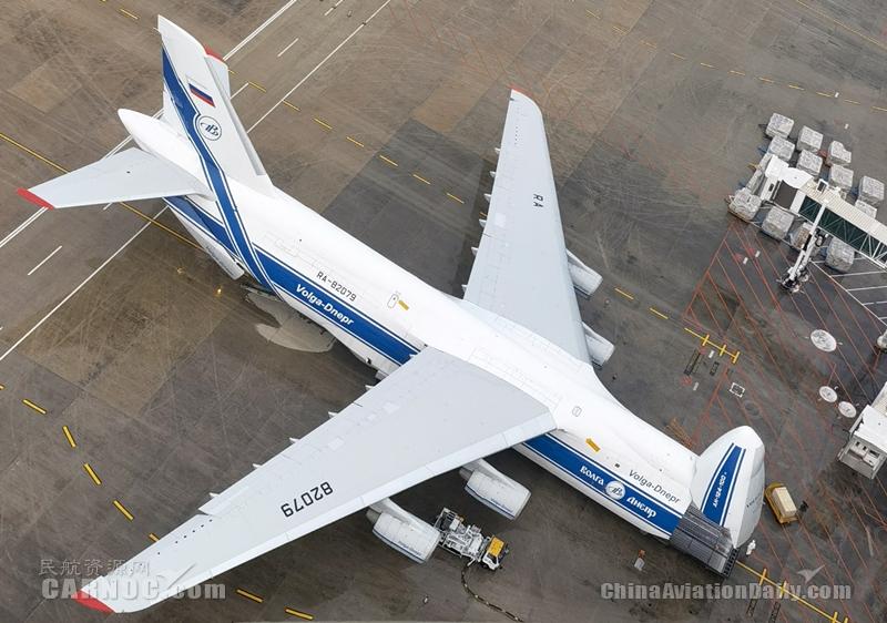 湖北空管分局全力保障安-124重型运输机运送防疫物资