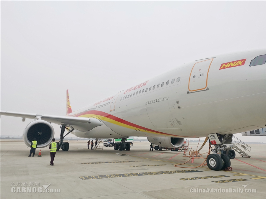 海南航空郑州—下诺夫哥罗德复工复产包机航班顺利起航