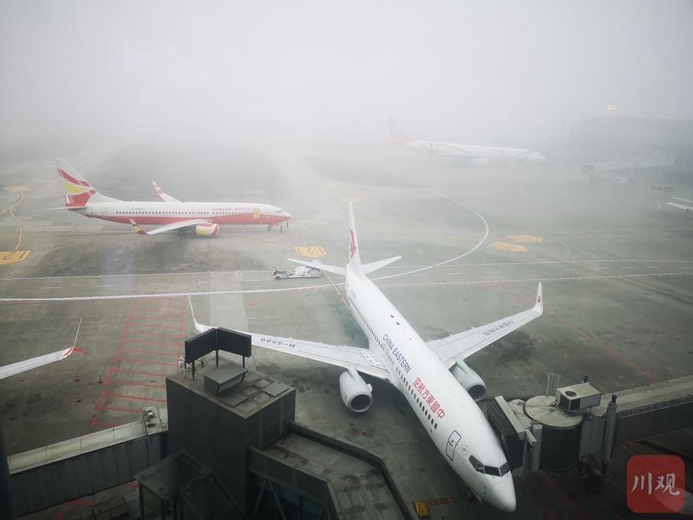 大雾致双流机场大面积延误,系今年入冬以来首次