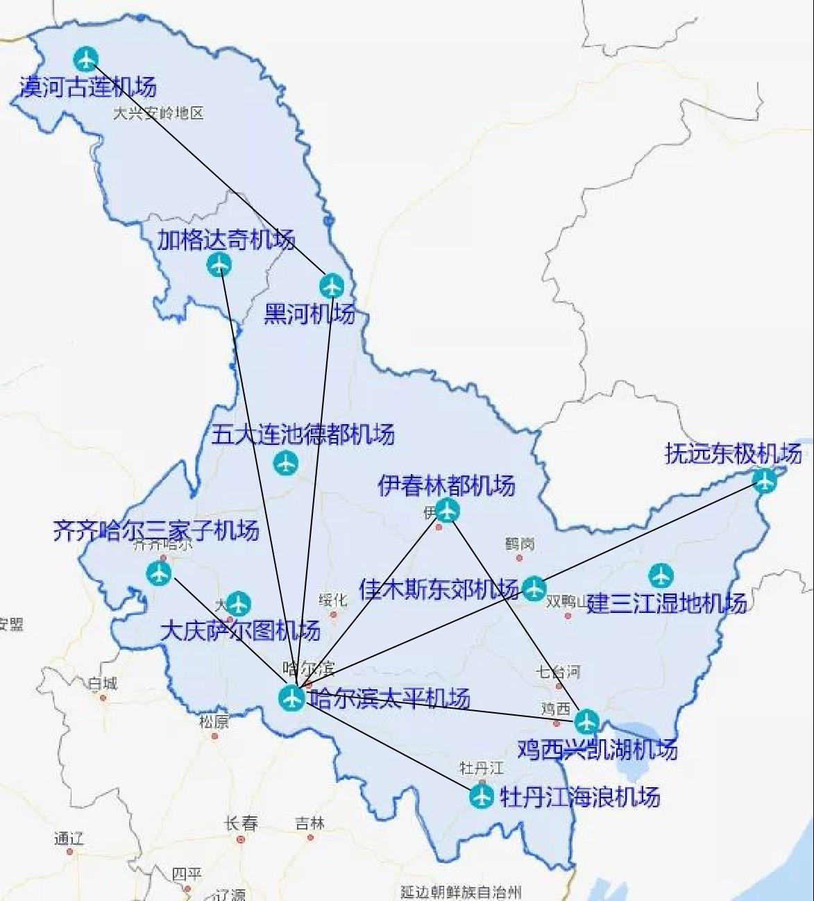黑龙江支线航线网络