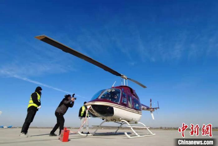 河南首批短途航线在上街机场首航起飞