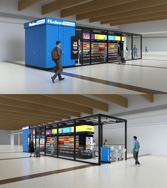Hudson将在机场便利店引入亚马逊无接触支付技术