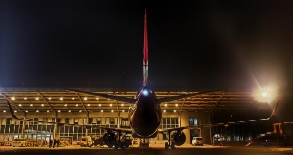 深航2021年第一架新飞机到场入库