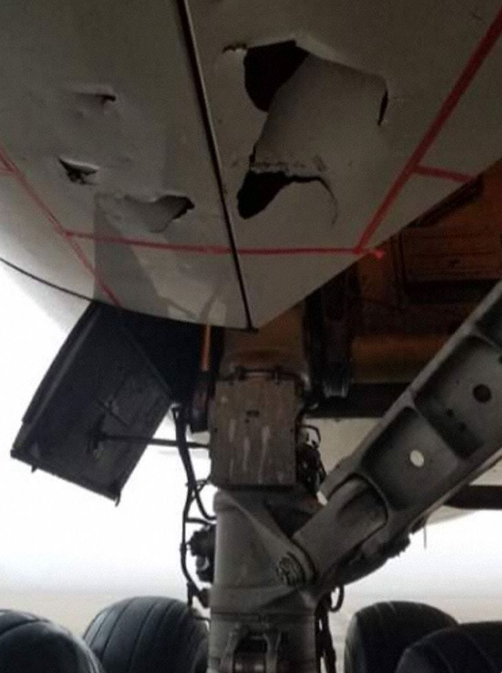新航货机在布鲁塞尔降落后发现机身受损