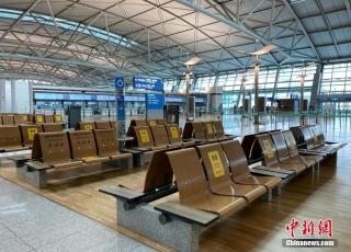 图集:疫情下的韩国机场