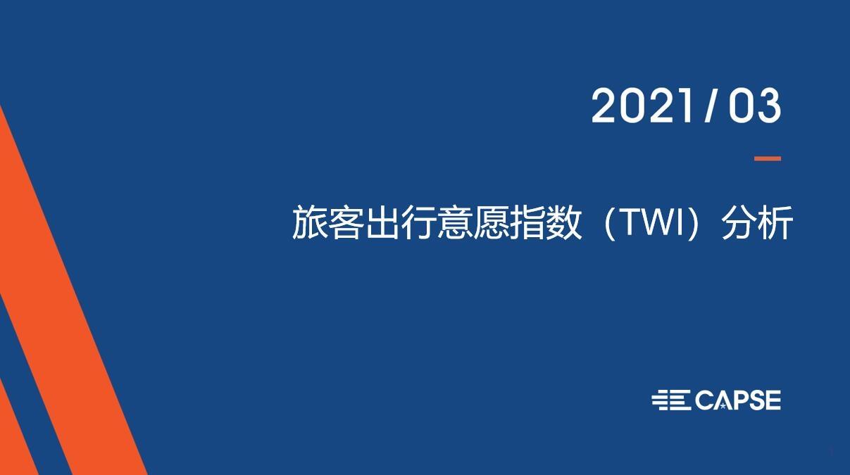凤凰涅槃 3月意愿指数(TWI)发布:3月旅客出行意愿迅速恢复,商务&旅游出行意愿大幅提升