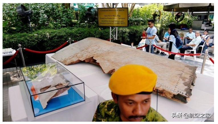 图、在吉隆坡展示的马航370号航班残骸
