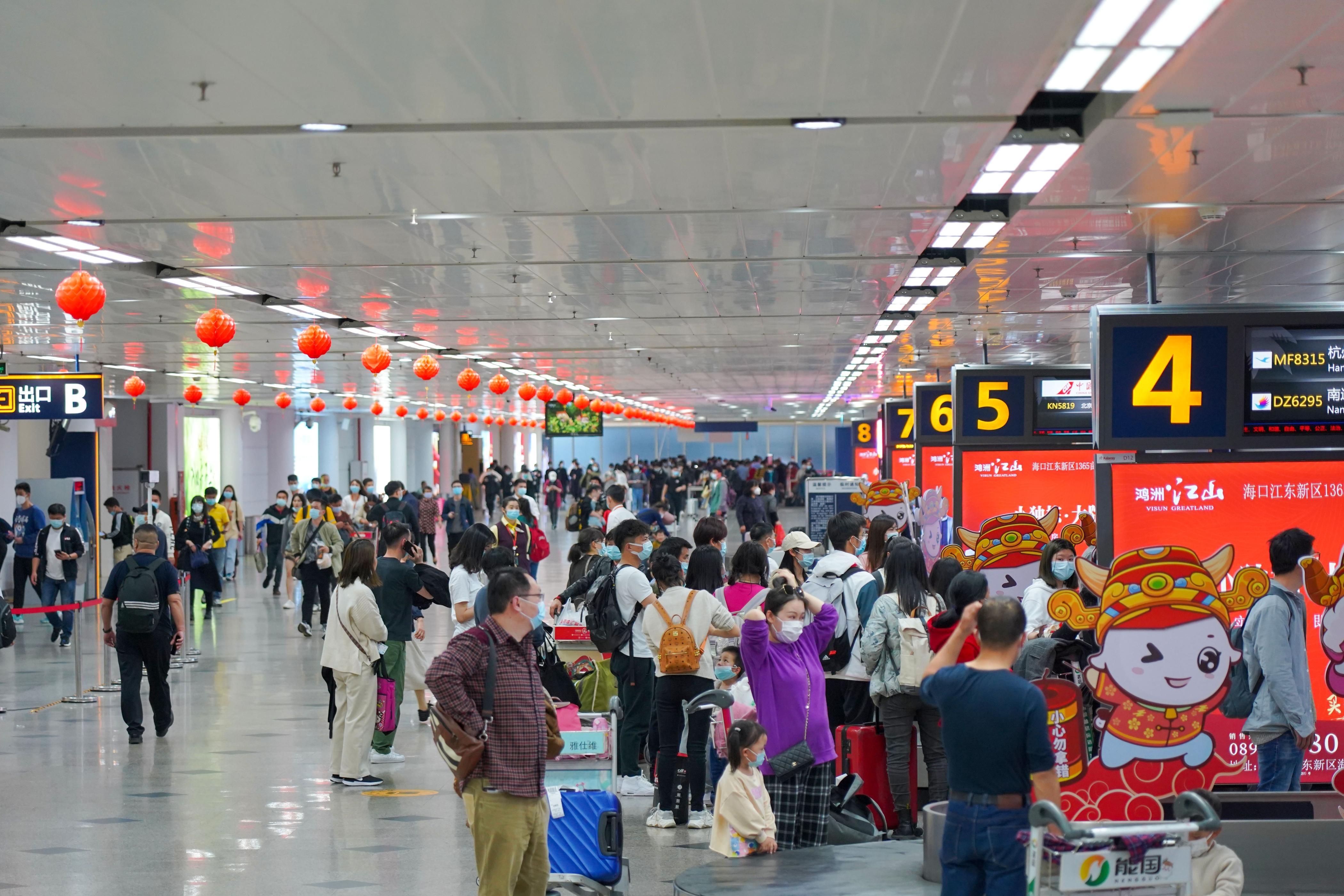 海口美兰机场2021年春运运送旅客179.4万人次