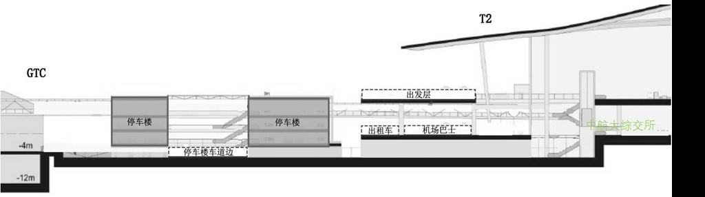 海口美兰机场陆侧车道边剖面图