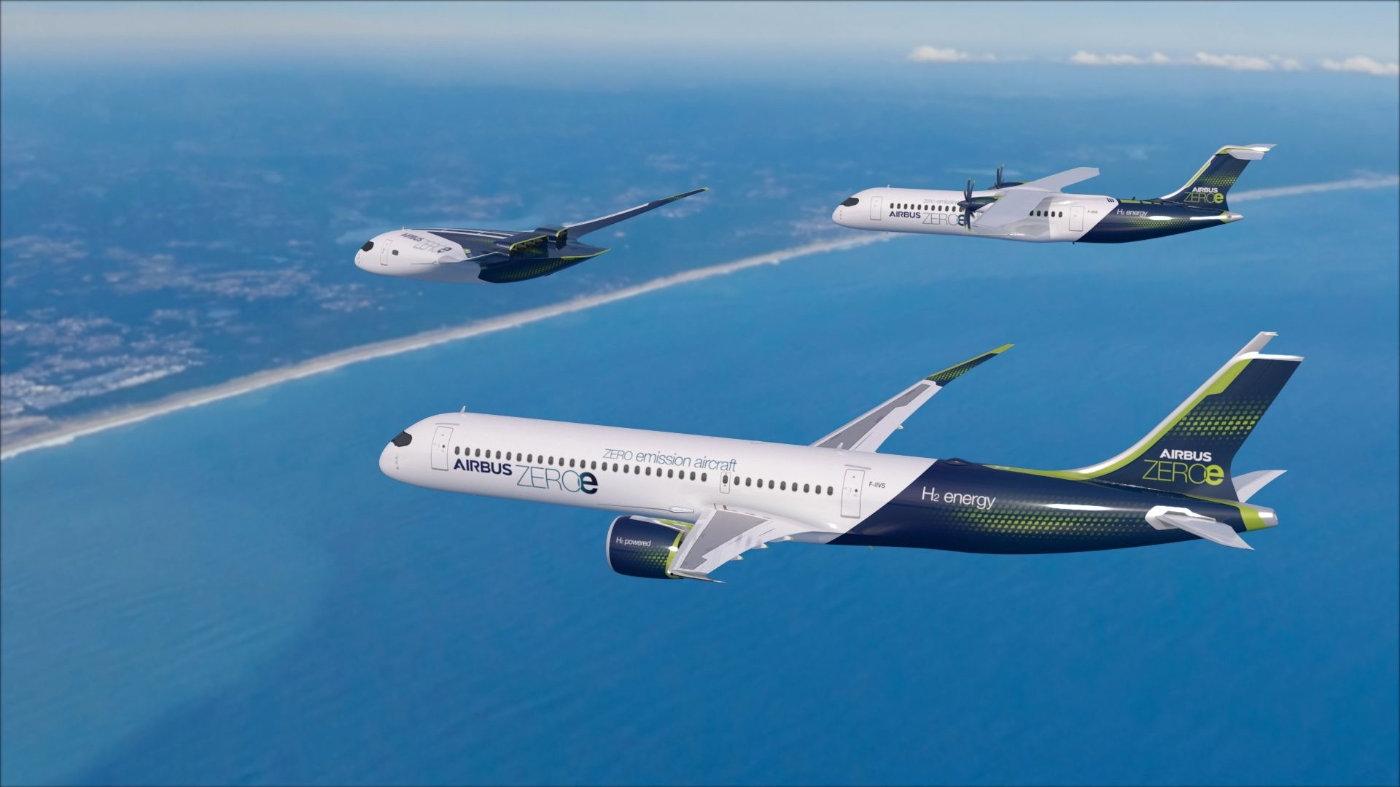 空客发布全新零排放概念飞机ZEROe