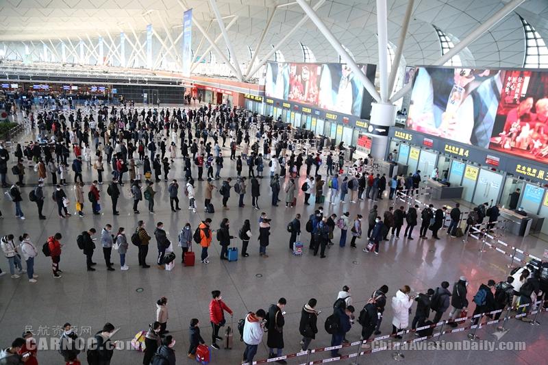 2021年春运沈阳机场旅客吞吐量119.5万人