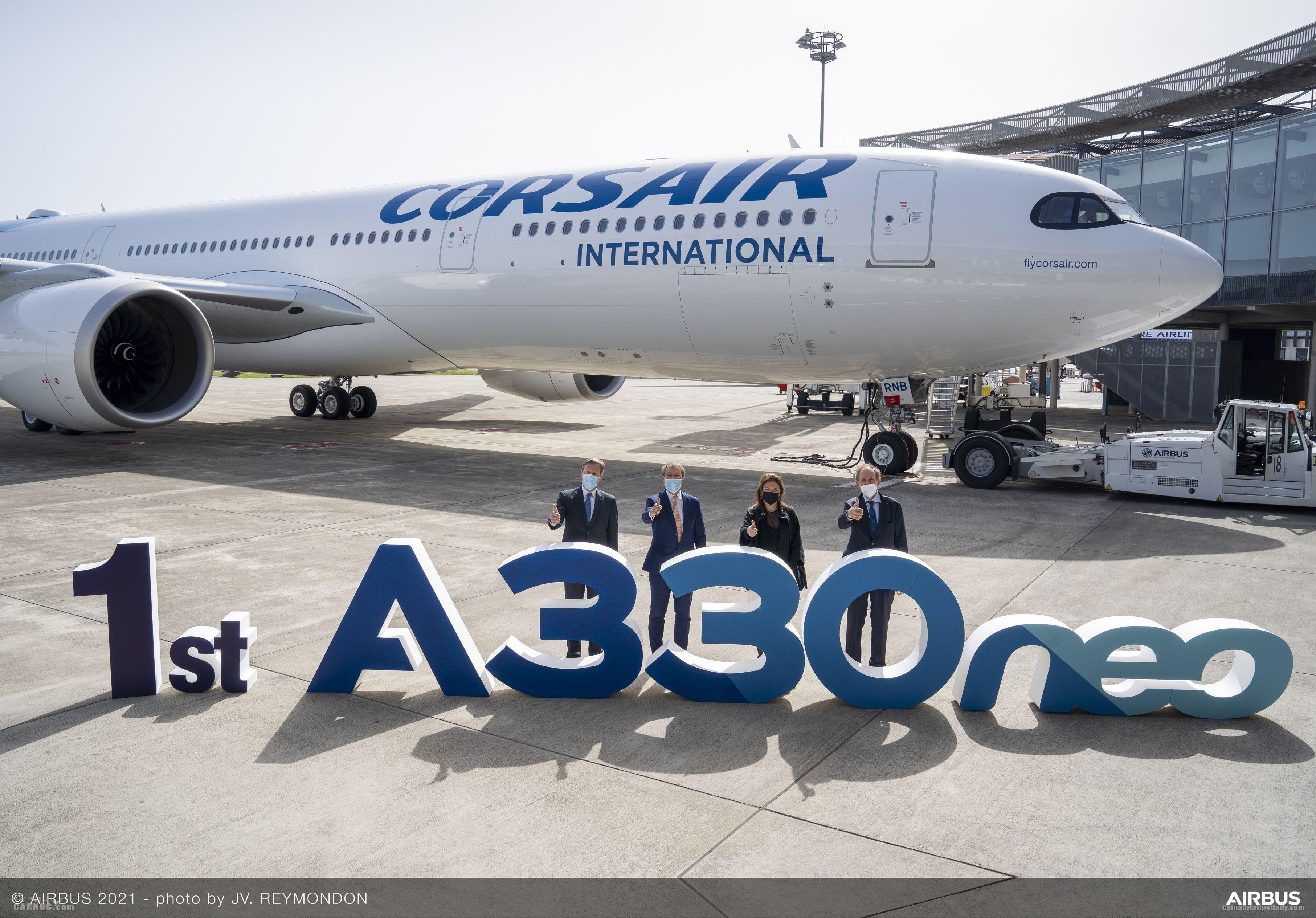 科西嘉国际航空接收其首架空客A330neo飞机