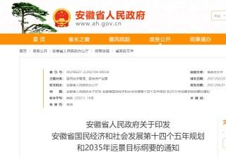 """安徽省""""十四五""""规划纲要:建设一批A2级及以上通用机场"""