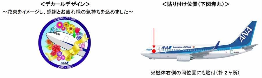 全日空将退役所有737-700  将贴上纪念贴纸