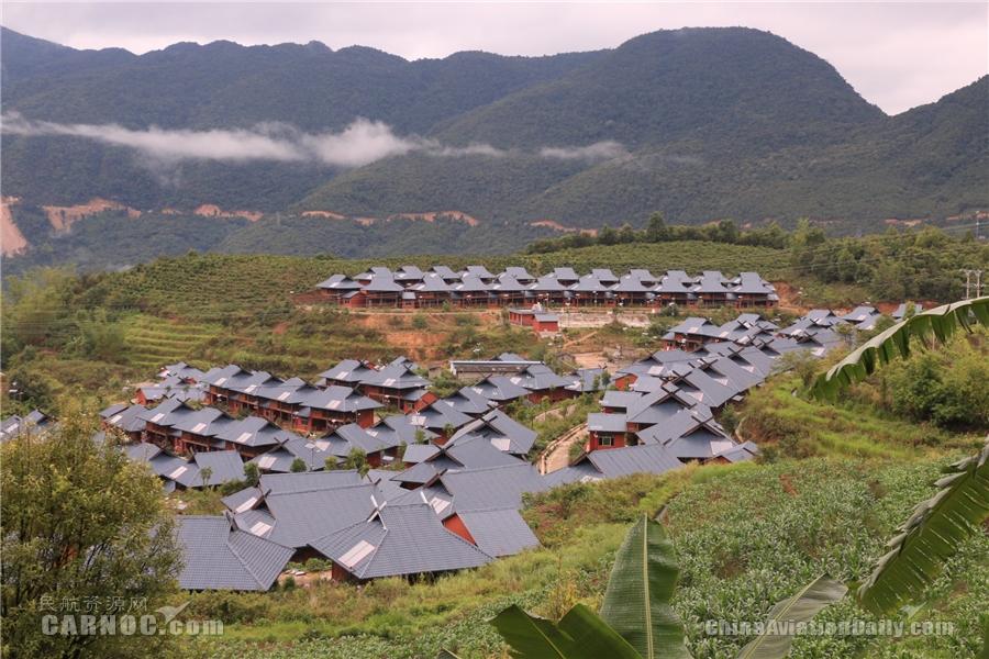 东航为佤乡群众支援建设的安居房(东航供图)